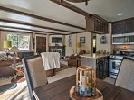 An open-concept layout creates an easy flow throughout.