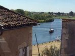 View of Dordogne river from top floor window