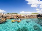 Kayaks, Paddle & Surf Boards Can Be Hired From The Beach - Perfect For Exploring The Local Coves