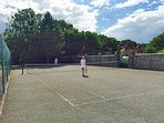 Pekes Manor Tennis court.