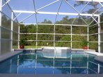 The pool and the uninterrupted view of the Florida reserve behind.