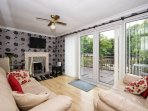 Spacious lounge/dining room , large patio doors onto decking