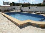 villa maria`s new 11mtr x 5 mtr pool