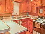Prepare a snack in the fully equipped kitchen.