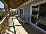 Lower ocean side deck