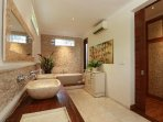 Master Bedroom 2 ensuite Bathroom with separate shower (fully airconditioned)