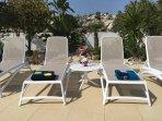 Sun Loungers next to Swimming Pool