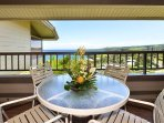 Have your breakfast in the downstairs lanai