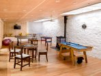 In our Games/Function Room:  Ping Pong, Snooker, Foosball and Cards.  Flat Screen TV
