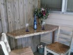 Outdoor bar on back porch