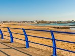 Trearddur Bay beach and promenade