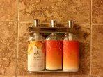 Malie Organics body wash, shampoo & conditioner