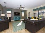 6 Bedroom 6 Bath Pool Home in Gated Golf Resort. 1452MS
