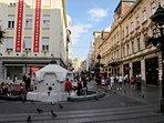 Pedestrian area - Knez Mihajlova street (5min walk from our flat)