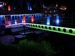 Nightlife - Sava river raft  -(10min walk from our flat).