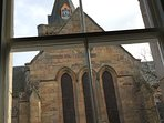 Dornoch Cathedral from the window of Chinese room
