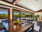 Enjoy a tropical breakfast with pool views!