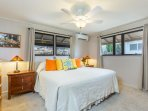 Master bedroom, California king and split AC, for those warm summer days!