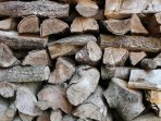 Wood is available for the logburner - one basket comes free. Harvested sustainably locally
