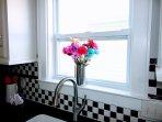 Enjoy views from the kitchen window!