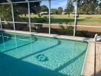 View of 18th fairway from pool area