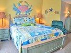 Master suite has a queen bed
