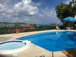 second pool with view of Christiansted