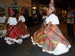 Quadrille dancers during a Jump Up (street festival)