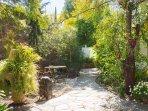 Parte de jardin entre lo estudio y la cabaña del jardin!