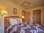 Fall fast asleep in this queen-sized bed.