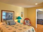 This unit features one bedroom with a full-sized bed.
