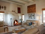 Eagle Nest living room fireplace