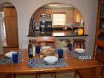 Taos Eagle Nest table to kitchen arch