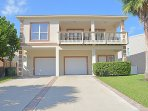 4 BDRM, 3 Baths- 5 houses to the beach, open design in kitchen,  living &  dining rm; 2 balconies