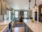 Chef's Kitchen, Center Prep Island with Breakfast Bar, Top of the line Apliances