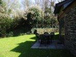 Private enclosed rear garden patio area