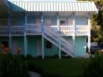Condo is located on second story. Steps up to condo..