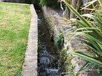 Stream in the BBQ garden