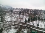 Aerial view of Luxurious Silver Streak Cottage near Manali