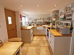 The kitchen is well equipped for your self catering holiday