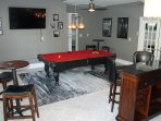 Large Recreation room with 65 inch TV