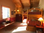 Large bunk bed room with 4 beds, xBox and Smart TV