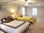 Second Master suite with a private bathroom, two brand new queen beds, and two separate closets!