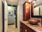 Beautifully remodeled guest bathroom.