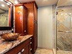 Lovely remodeled guest bathroom.