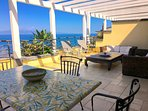 PANORAMIC SEA VIEW PENTHOUSE APARTMENT Pool + Terrace