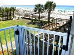 Beach Access Accessible from the Balcony!
