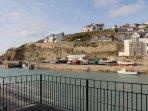 Patio overlooking harbour