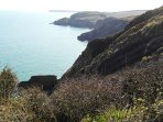 View From The Cliffs Above Freshwater East, Towards Stackpole