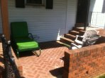 Side patio for relaxing or BBQ cookout